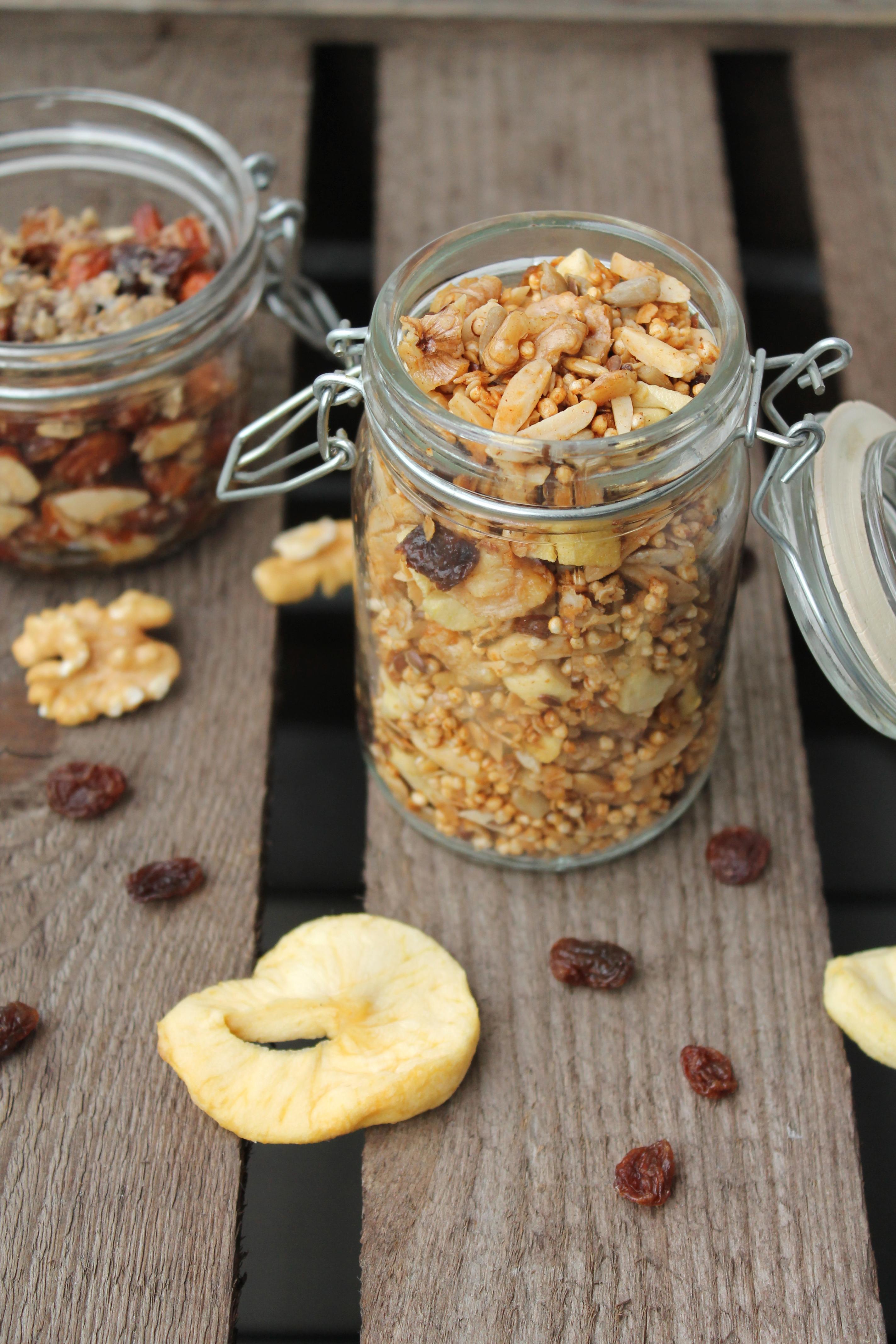 Grundrezept Fur Zuckerfreies Granola Auch Glutenfrei Projekt