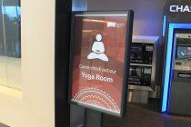 Yoga am Flughafen (Frankfurt, San Francisco...)