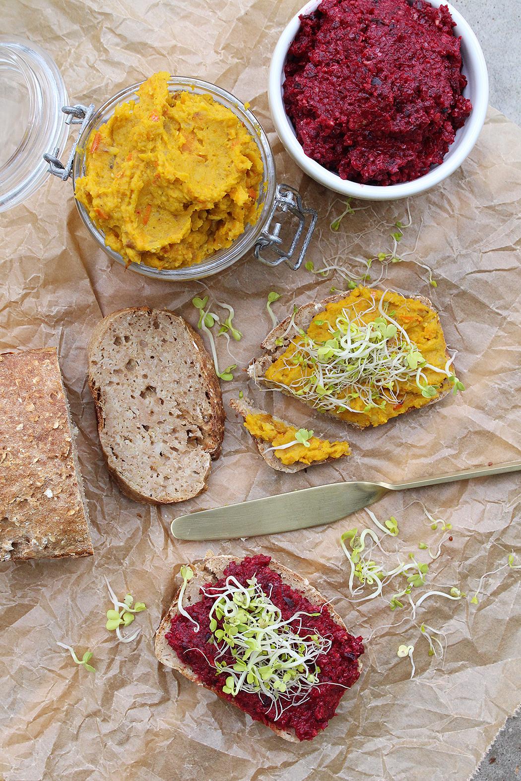 Haferflocken Brot und Aufstriche01