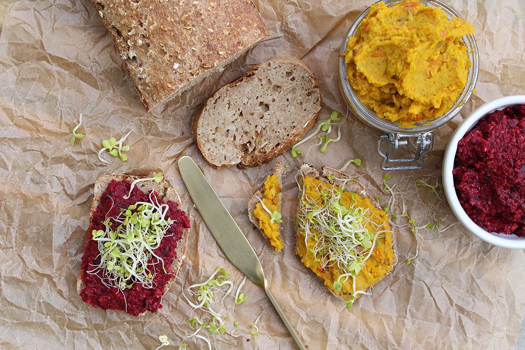 Haferflocken Brot und Aufstriche02