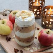 Clean Eating German Christmas Menu – Dessert: Baked Apple Parfait