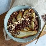 Rezept: Schoko-Buchweizen-Porridge mit Birne {Zuckerfrei-Challenge Phase 1}