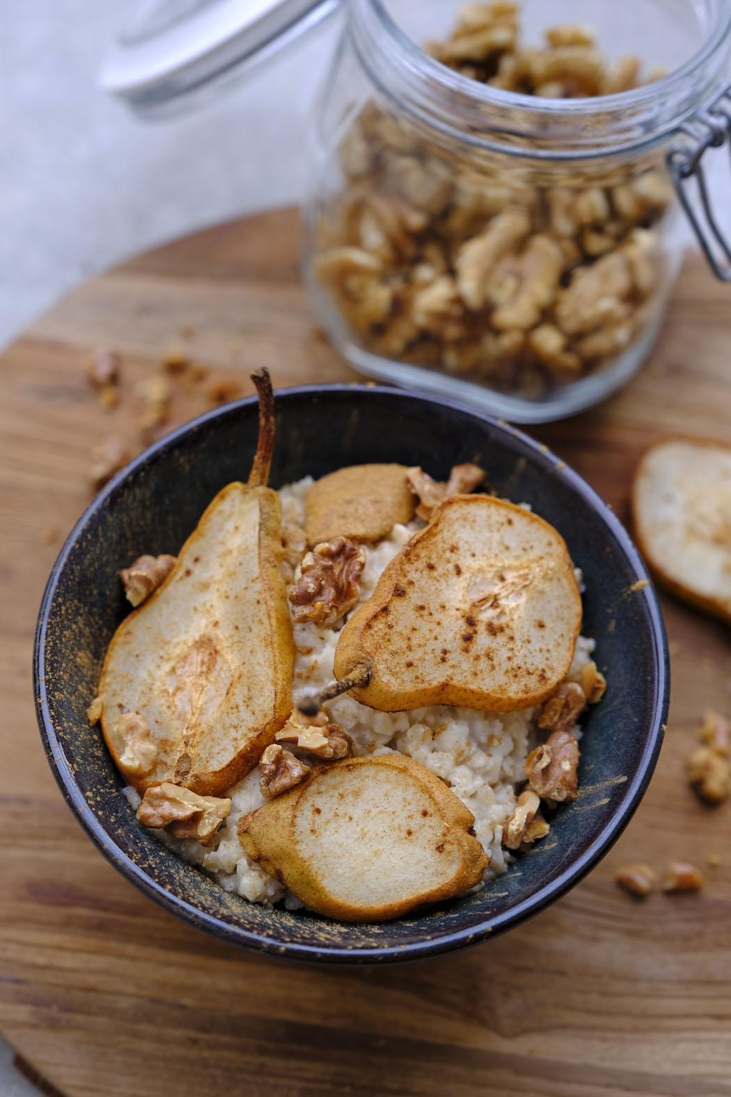 Porridge mit Zimt Birnen02