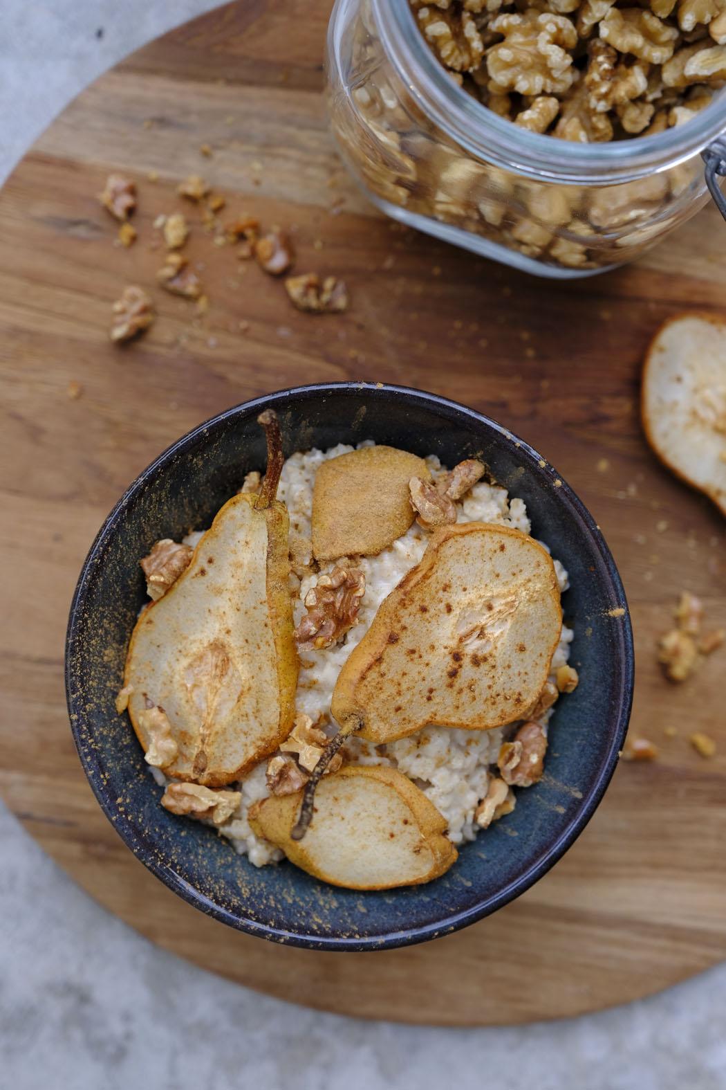 Porridge mit Zimt Birnen03