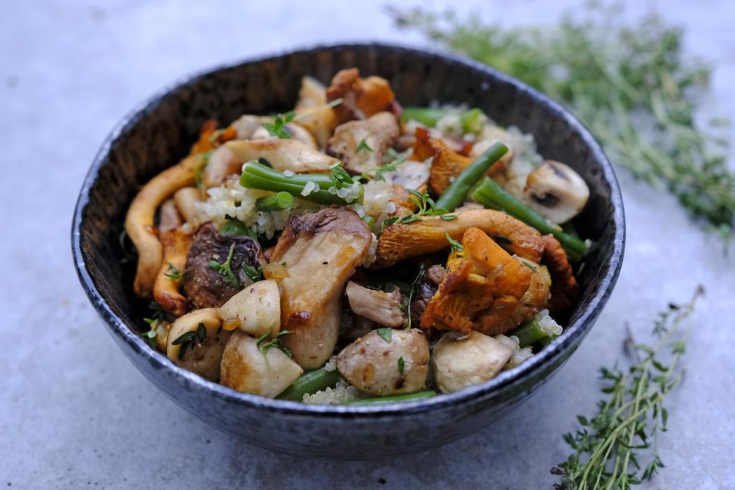 Pilzpfanne mit Quinoa und Bohnen01