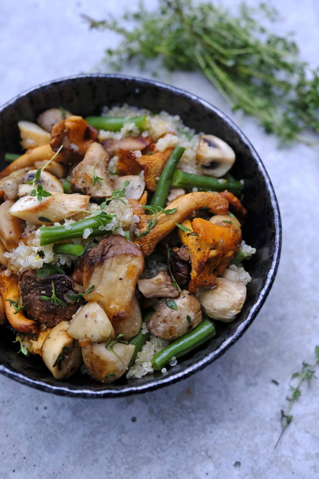 Pilzpfanne mit Quinoa und Bohnen02