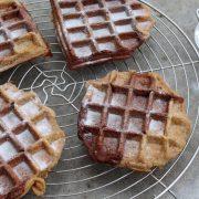 Recipe: Chocolate & Vanilla Belgian Waffles (Sugar-Free and Vegan)