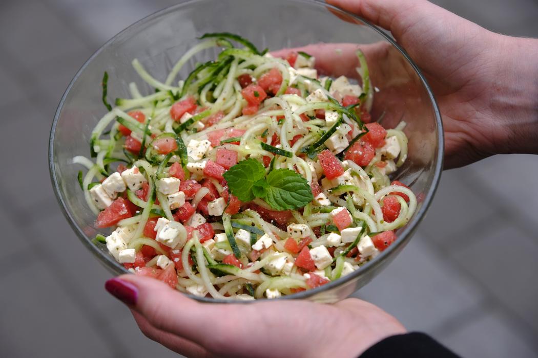 Rezept Wassermelonen Salat Mit Feta Und Wassermelonen Spieße