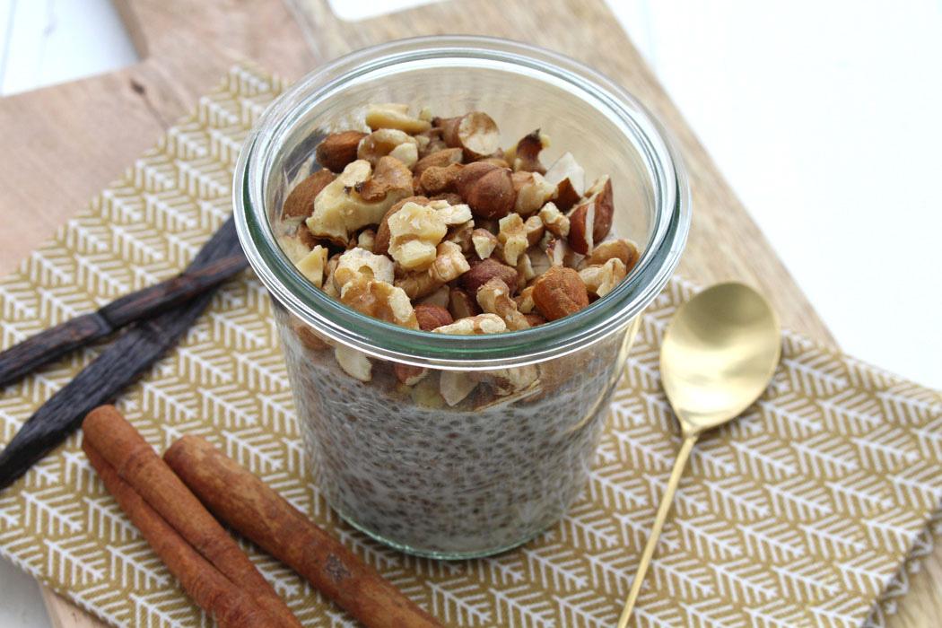 Chia Vanille Pudding mit Zimt und Kokosmilch01