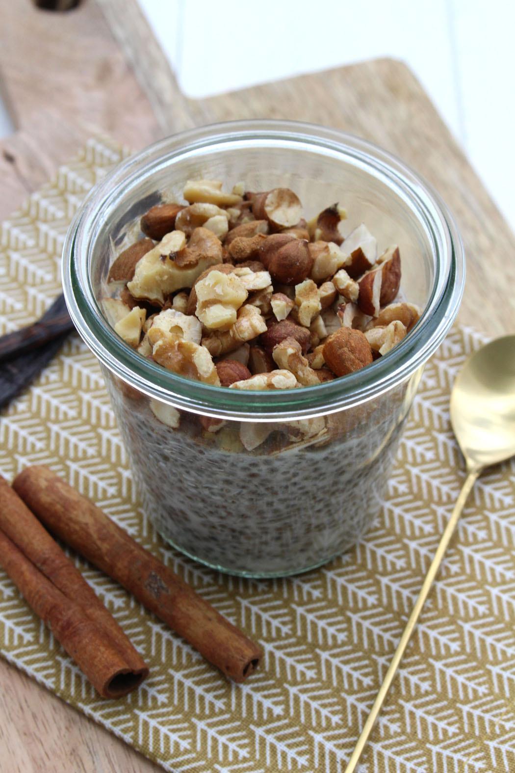 Chia Vanille Pudding mit Zimt und Kokosmilch02