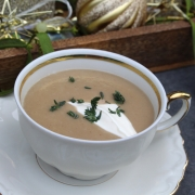 Clean Eating German Christmas Menu – Appetizer: Creamy Chestnut Soup with Pears