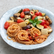 Recipe: Pasta with Rustic Roasted Vegetables