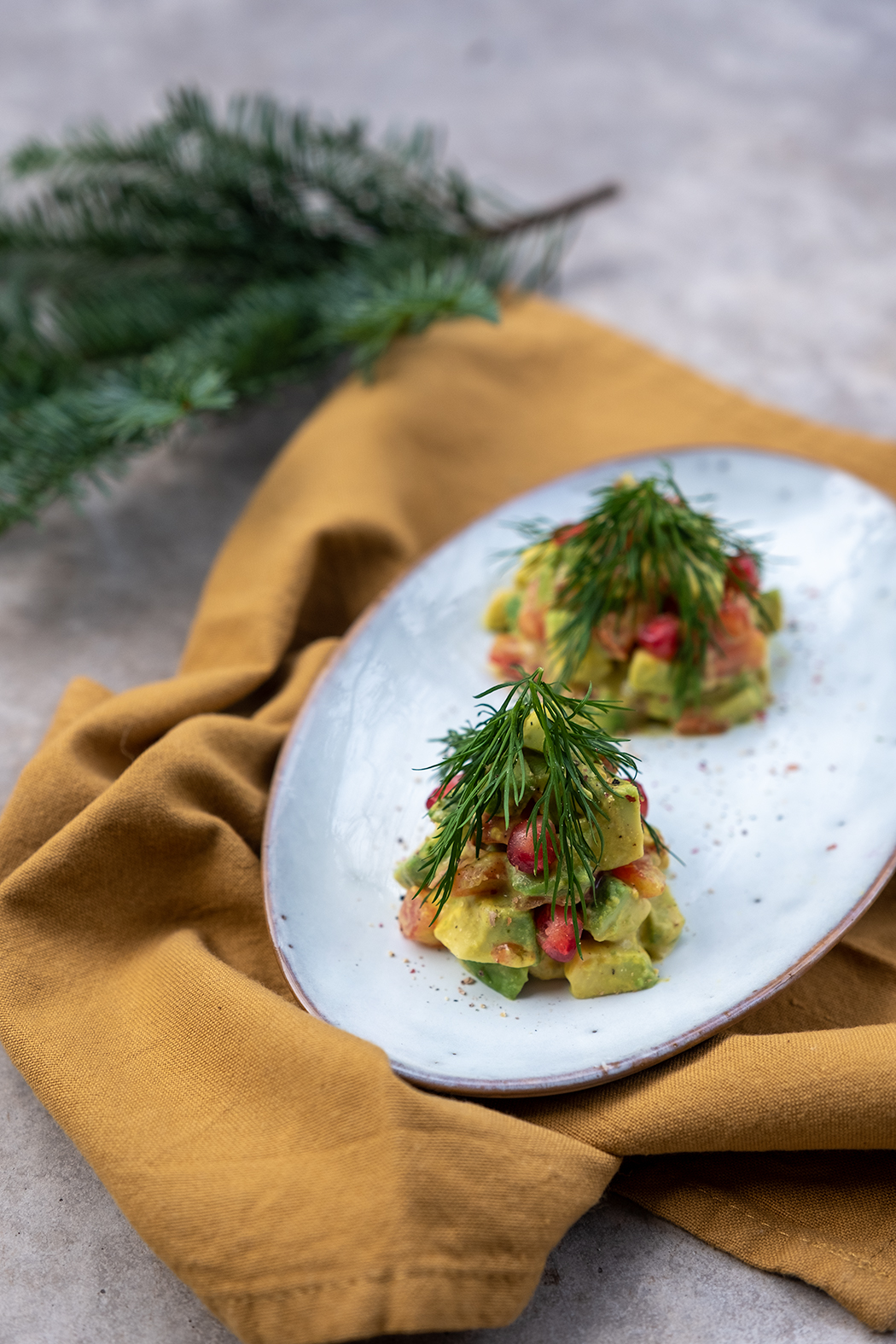 Vorspeise Weihnachtsmenü Tannenbäume02