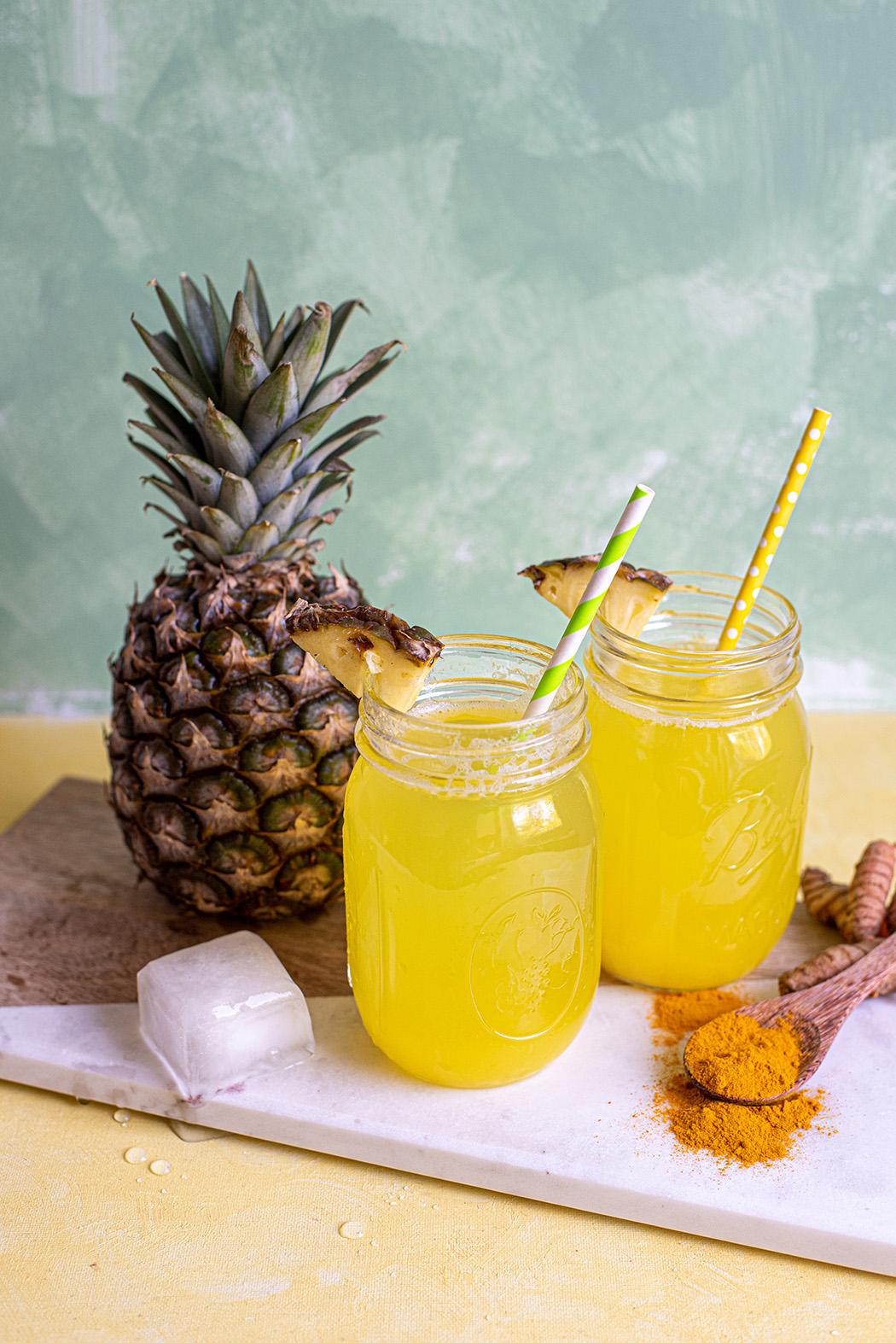 Ananas Kurkuma Limonade Perfekt für den Sommer 04