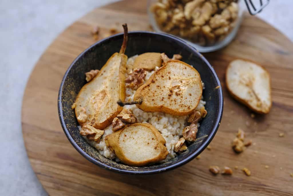 Porridge mit Zimt Birnen01