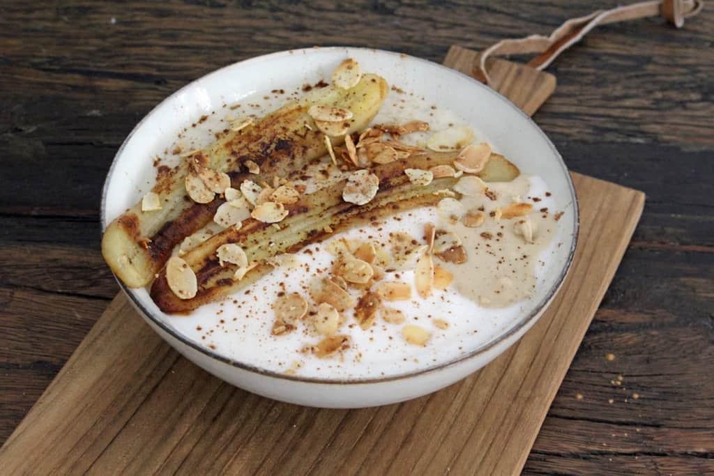 Porridge mit gebratener Banane01