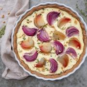 Rezept: Gelbe-Bete-Tarte mit Zwiebeln {Meal Prep}