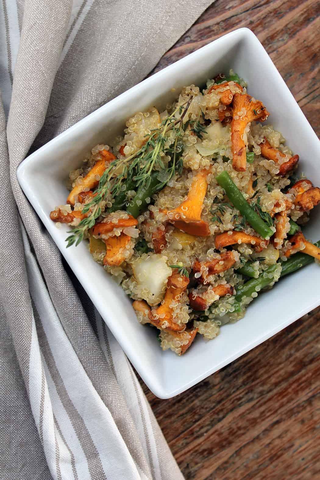 Quinoa Pfanne mit Pfifferlingen und Bohnen 10