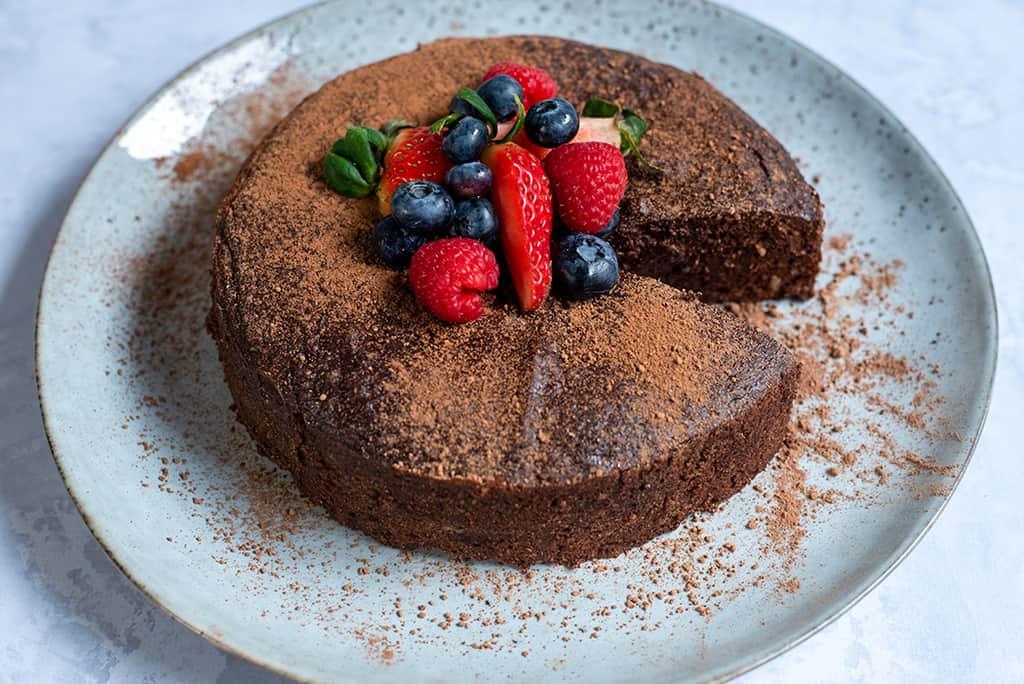 Schokoladenkuchen ohne Zucker03