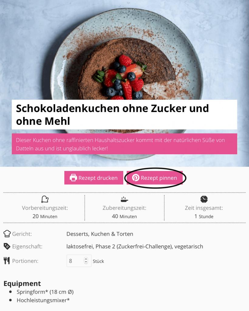 Screenshot Rezepte