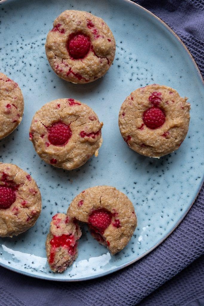 Fruehstuecksmuffins mit Himbeeren02